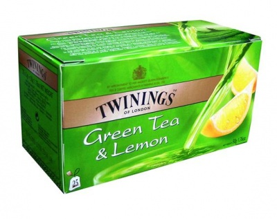 "Zöldtea, 25x1,6 g, TWININGS ""Green Tea & Lemon"""